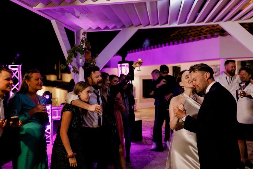 first dance at the hotel casa palmela wedding