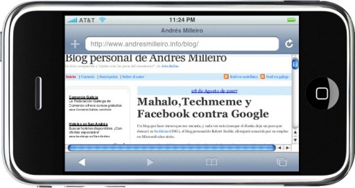 Andrés Milleiro no iPhone