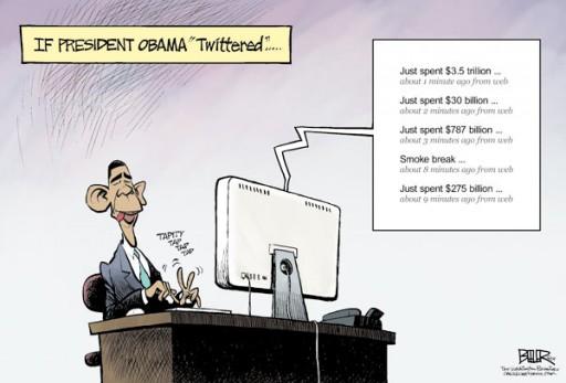 Obama tuiteando