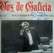 Beiras na portada de La Voz de Galicia