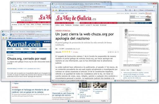 os medios cae na broma de Chuza.org