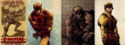 varias ilustracións do D-Man