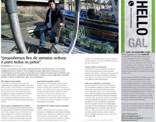 entrevista a Xosé Ramón Nóvoa de HELLOgalicia na revista de R