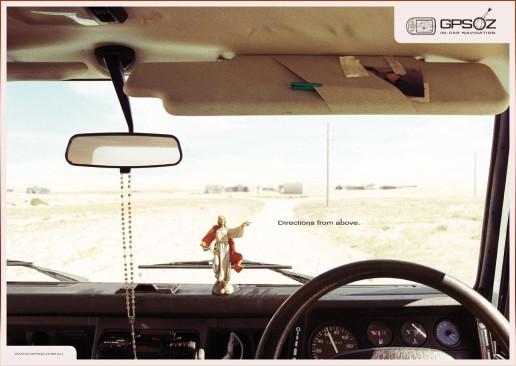 Cristo coma guía no coche