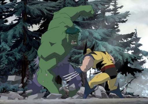 Hulk enfróntase a Lobezno