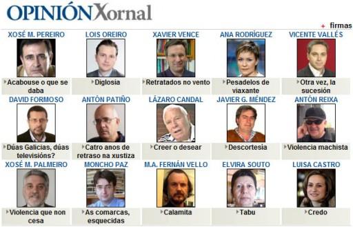 Firmas de Opinión no Xornal de Galicia