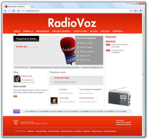 nova web de RadioVoz