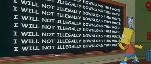 Bart pide que non se descargue ilegalmente a súa película