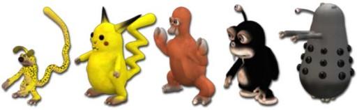 Recreación de personaxes en Spore