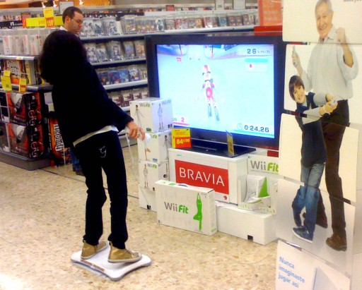 Wii Fit no Carrefour