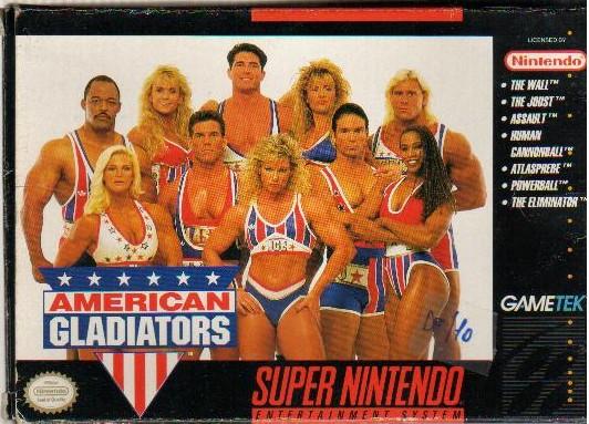 Xogo para SNES de Gladiadores Americanos