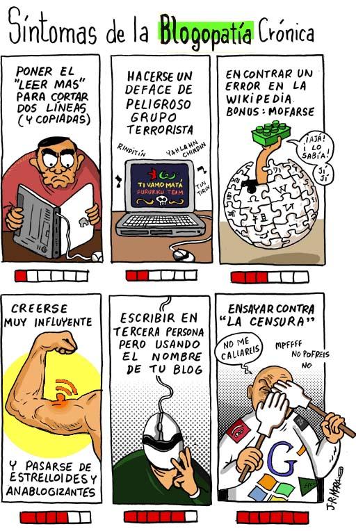 síntomas da blogopatía crónica