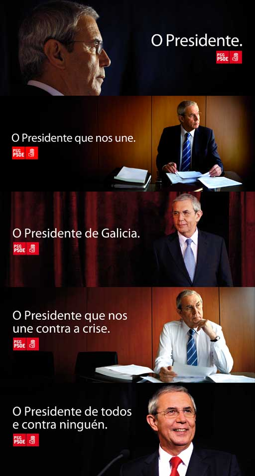 carteis do presidente Touriño