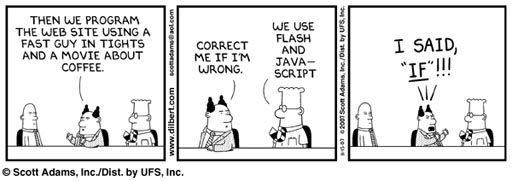 Dilbert, Flash e Java