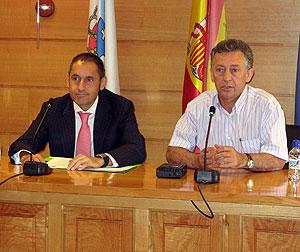 Dopico e García Couso en Arzúa