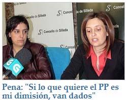Pena: Si lo que quiere el PP es mi dimisión, van dados