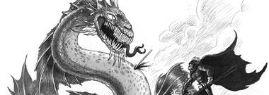 Ilustración das Crónicas de Gáidil aparecida na portada do suplemento de Lecer de Galicia Hoxe