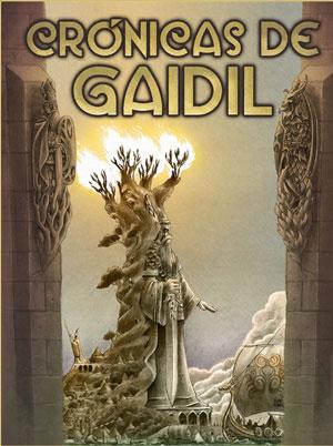 Portada da futura edición das 'Crónicas de Gaidil', editado pola Difusora de Letras, Artes e Ideas