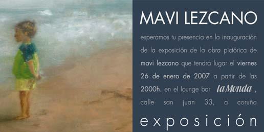 Invitación á exposición de Mavi Lezcano