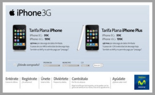 iPhone 3G con Movistar