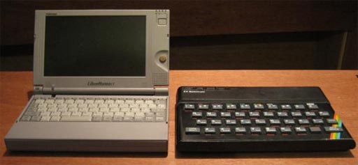 Toshiba Libretto 110 e ZX Spectrum 48K