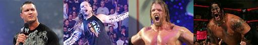 Randy Orton, Jeff Hardy, Triple H e Umaga