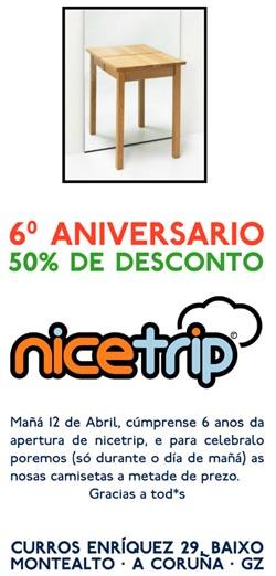 6º aniversario de nicetrip