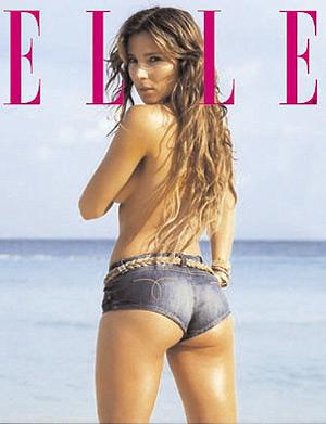 Portada da revista Elle con Elsa Pataky