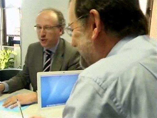 Rajoy co Macbook