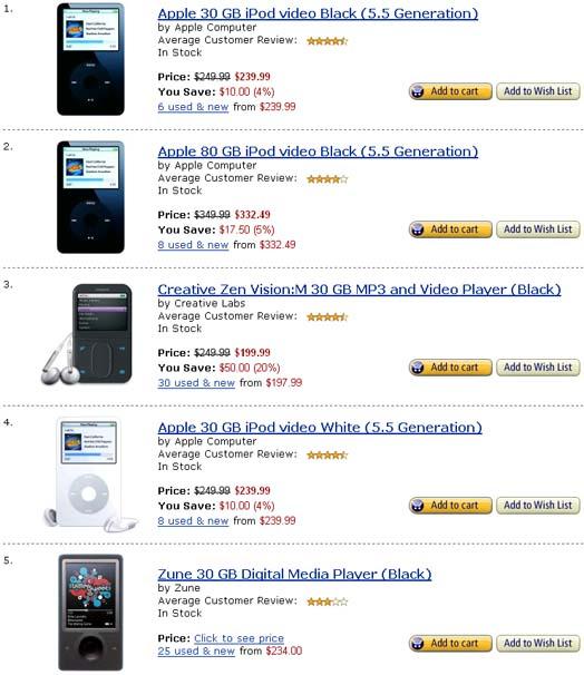 Reprodutores de MP3 con disco duro en Amazon