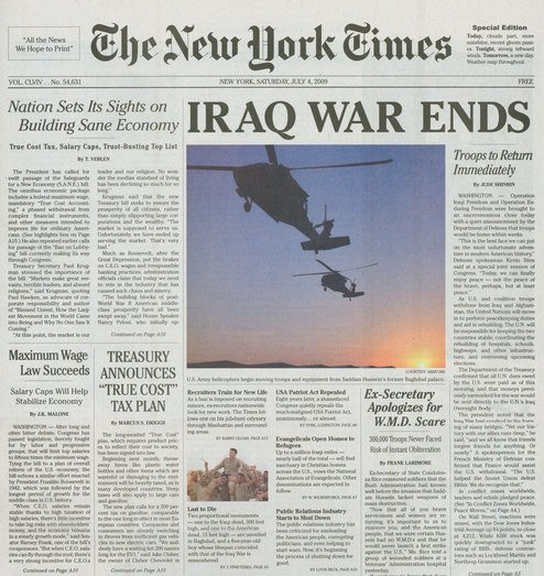 Edición Especial do The New York Times