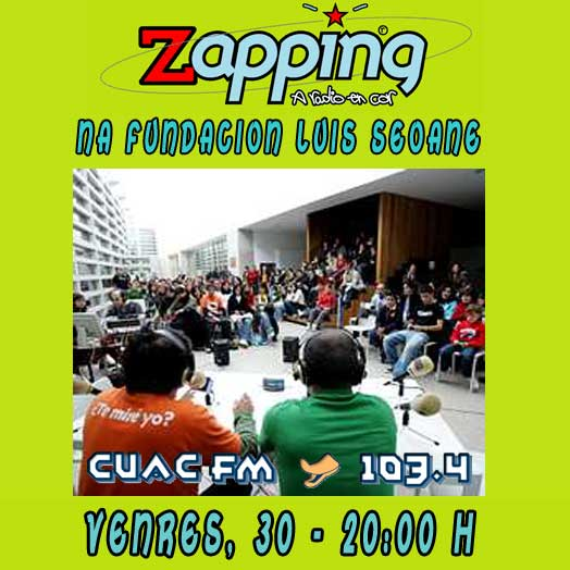 Zapping en directo dende a Fundación Luis Seoane