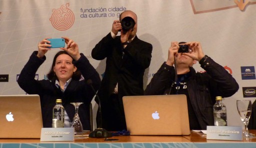 fotografando á audiencia