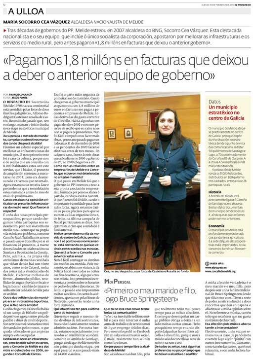 Entrevista a Soqui Cea en El Progreso