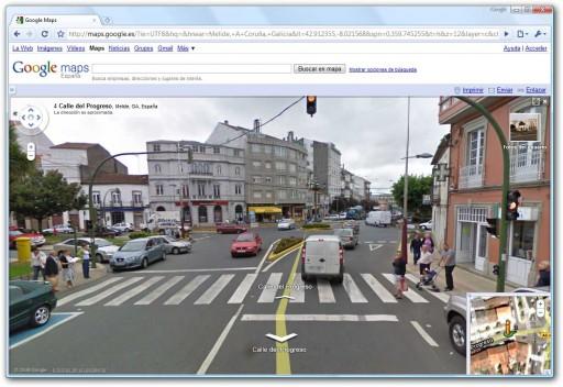 Melide no Google Street View