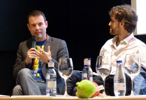 José Manuel Alarcón e Daniel Seijo discutindo nunha mesa redonda do B-web 2011