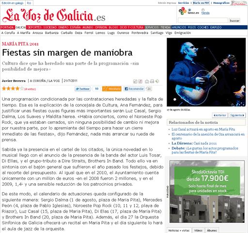 The Ellas estarán nas Festas de María Pita