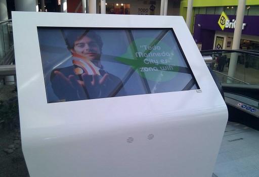 Pantalla interactiva en Marineda City