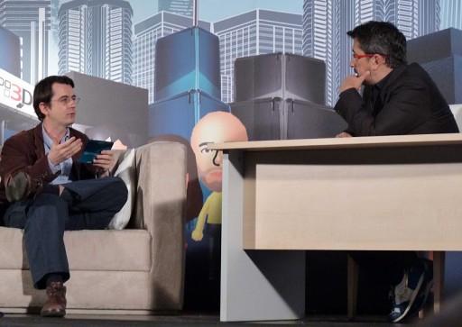 Nicolás Wegnez adiantando detalles da Nintendo 3DS
