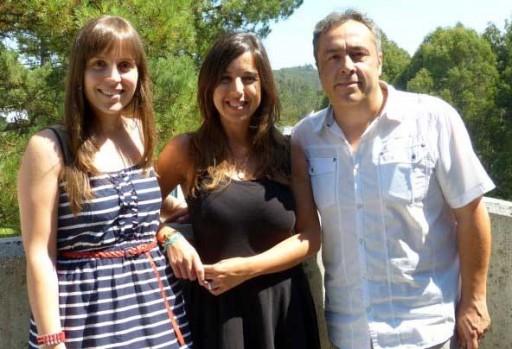 Rocío Pereira, Cristina García e Alberto Rivero