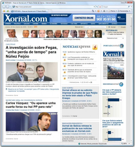 Xornal.com e as exclusivas demoradas