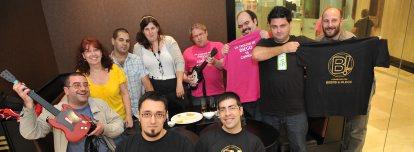 Os 'bloggers', onte, na Coruña
