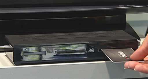 Deco de TDT con lector de tarxetas