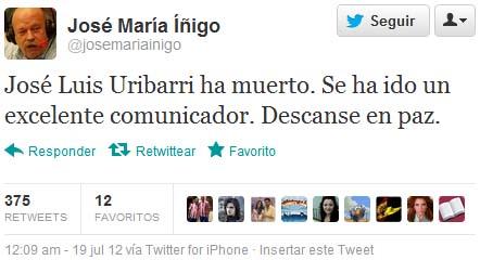 tweet de Íñigo