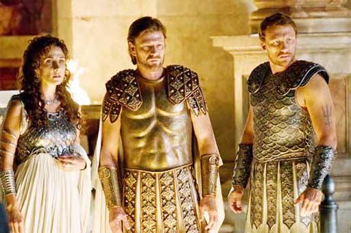 Atenea, Zeus e Poseidón