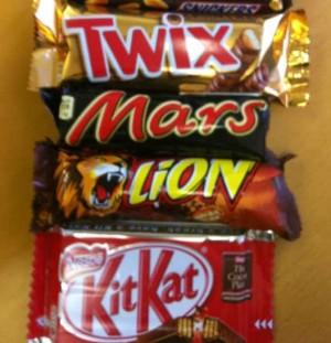 Twix Mars Lion e KitKat