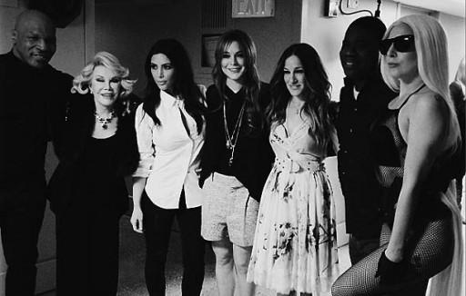 algúns dos convidados do programa no backstage