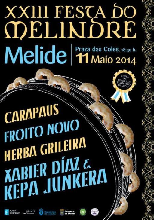 cartel das actuacións musicais da Festa do Melindre
