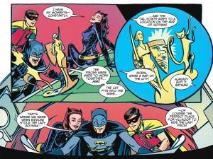 Batman '66 tamén está maquetado pensando nas pantallas na súa edición dixital