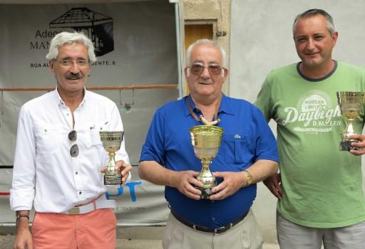 Os tres gañadores adultos (de esquerda a dereita): Cajide, Mato e Taboada